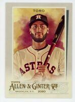 2020 Topps Allen & Ginter #264 ABRAHAM TORO Rookie Card RC Houston Astros