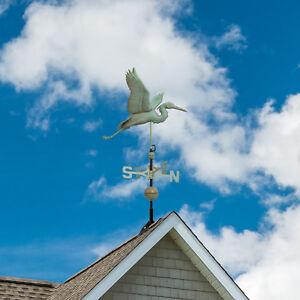 Copper Heron Weathervane