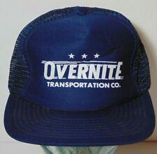 Old Vintage 1980s Overnite Transportation Co. Trucking Snapback Trucker Hat Cap