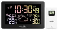 Large  Bright Colour Changing Weather station Indoor outdoor