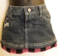 Denim Stretch Mini Skirt Skort by Deréon - Girls 6-9M