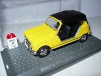 4L3F 1/43 UNIVERSAL HOBBIES M6 RENAULT 4 : 4 L plein air capotée jaune 1968