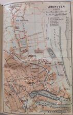 Aberdeen, la Grande-Bretagne, 1910, antique vintage Street Map, Atlas