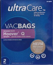 2 Hoover Platinum UH30010, CH50400 Type-Q HEPA Filter Vacuum Cleaner Bags