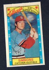 1979 Kelloggs #2 Ted Simmons St Louis Cardinals NM