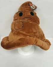 NEW Emoji Smiley Face Emoticon Stuffed Pillow Cushion Hat Plush Poop  adult