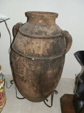 Antica Originale Anfora Brocca per Olio in TERRACOTTA fine '800 sud-italia
