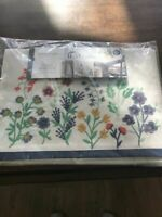 Gorgeous Embroidered Floral Table Runner Threshold 14 x 72 Easter, Spring