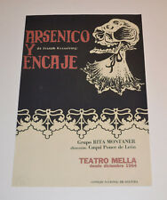 Theater Poster Art.Home or Room Decoration.Arsenico y encaje.Teatro Mella 1964