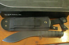 Ka-Bar 1280 Combat Kukri 1095 carbon steelknife w/ sheath & box