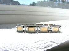 14k Gold And Stainless Steel Link Bracelet