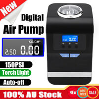 Digital Tyre Inflator 12V Portable Air Compressor Home Car Bike Tire Pump w/ LED