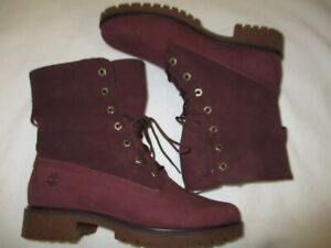 NEW Timberland Jayne Teddy Fold-Down Fleece Lined Combat Boots Size 9.5 Women's