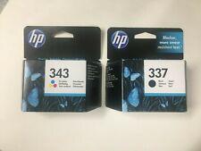 original HP Tintenpatronen 337 Black C9364E 343 Colour C8766EE 2014 OVP Rechnung