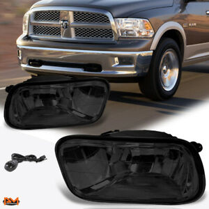 For 09-12 Dodge Ram Pickup Smoked Lens Front Bumper Fog Light/Lamp W/Switch Pair