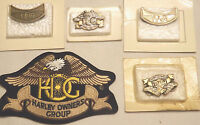 1 Harley Davidson Hog Owners Group Patch 2 Each Different 4 Hog Pins 2001