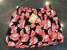 NWT Juicy Couture New & Genuine Ladies Floral Cotton Skirt Size 4 (UK 8/10)