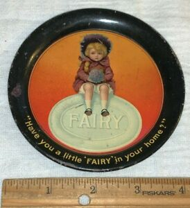 ANTIQUE FAIRY SOAP TIN LITHO TIP TRAY SIGN VINTAGE CLEANER COUNTRY DRUG STORE