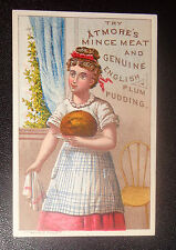 graphic  Victorian trade card advertising Atmore's Mince Meat Pudding