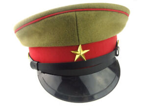 Repro WWII WW2 IMPERIAL JAPANESE OFFICER'S WOOL VISOR CRUSHER CAP HAT M