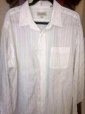 Tommy Bahama Mens Long Sleeve Dress Shirt 100% Cotton Linen