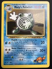 Carte Pokemon MISTY'S POLIWHIRL 53/132 Gym Hereos Wizard Near Mint