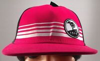 Pebble Beach Golf Course Embroidered Fuchsia Black White Fitted Hat L/XL NWT