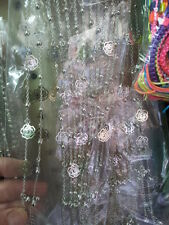 1 cavigliera fiori bagno argento  27 cm bracciale da caviglia estate