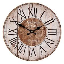VINTAGE Horloge Murale Nostalgie Montre style maison de campagne Antiquite Paris