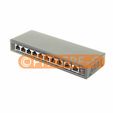 DSLRKIT 250M 10 Ports 8 PoE Switch Injector Power Over Ethernet NO Power Adapter