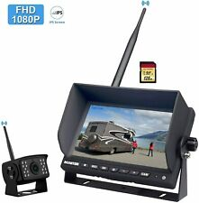 "FHD 1080P Digital Wireless Backup Camera System for RV/Truck/Trailer/Pickup,7"" H"