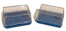 Lot Of 2 Vintage AFX Aurora HO Slot Car Blue Jewel Case, No Cardboard Base Boxes