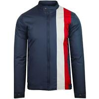 NEW MADCAP ENGLAND MENS RETRO MOD 60s 70s RACER Racing PADDED JACKET NAVY MC403