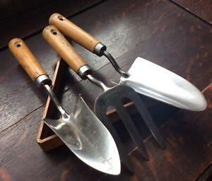 Vintage gardening hand tool set Stainless Steel