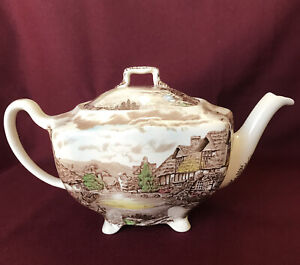 Johnson Brothers Olde English Countryside Teapot With Lid Genuine Hand Engraving