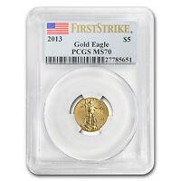1/10 oz Gold American Eagle MS-70 PCGS (Random Year) - SKU #83506