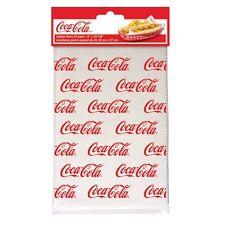 TableCraft Coca-Cola / Coke Food & Snack Serving Basket Liners - 24ct