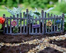 Miniature Fairy Garden Fence w Swinging Gate Door WS 1146  Pick Faerie Gnome