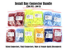 Nylon Vinyl Quick Disconnect BUNDLE 22-18 16-14 12-10 GA 1200 PCS Install Bay
