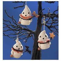 Set/3 Bethany Lowe Little Boo Ghost Halloween Holiday Retro Vntg Decor Ornaments