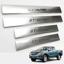 Fit 12-2016 Mazda Bt50 Bt-50 Pro Pickup Step Trim Step Plate Scuff Chrome 4 Door