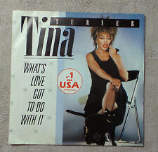 """DISQUE VINYL 45T SP/ TINA TURNER """"WHAT'S LOVE GOT TO DO WITH IT"""" 1984 7"""" 45 RPM"""