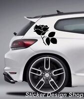 2er Set Autoaufkleber Blumen Ranke Seiten Heckscheibe Aufkleber Sticker Tuning 3