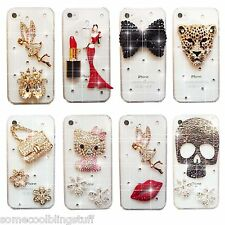 BLING DELUX TINKERBELL ANGEL SKULL DIAMOND CASE COVER FOR iPhone 4s 5s 6s 7 8 X