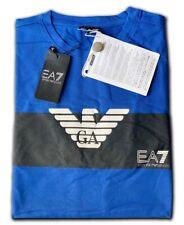 Men's EA7 Emporio Armani Crew Nack Short Sleeve T- Shirts Blue Size:XXLarge Sale