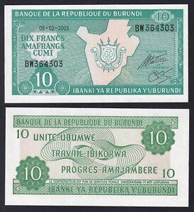 Burundi 10 francs 2005 FDS/UNC  B-02