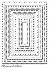 MFT - STITCHED MINI SCALLOPED RECTANGLE STAX thin metal dies, Made in USA