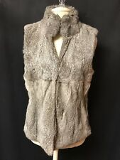 Michael Kors Vest/Rabbit Fur Womens-Sz.M-100% Real Rabbit Fur-Gray