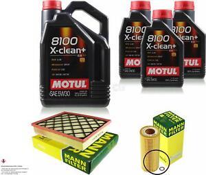 MOTUL 8L 5W-30 Motoröl+MANN-FILTER für BMW X6 E71 E72 xDrive35d 35d X5 E70 3.0sd