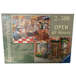 Ravensburger Open all Hours 2 x 500 piece Jigsaw Puzzle Complete Arkright TV